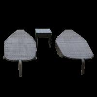 bàn ghế nhựa giả mây thư giãn