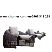 bàn ghế nhựa mây sân vườn giá rẻ
