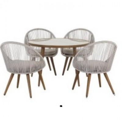 Bộ bàn ghế nhựa giả mây 001