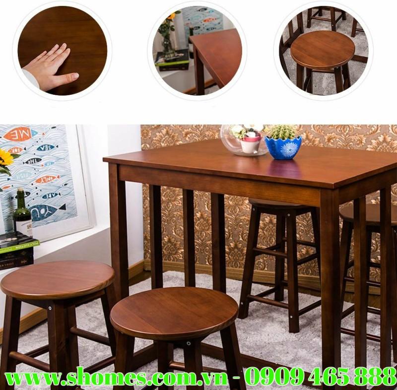 Bàn ghế gỗ cafe, bộ bàn ghế gỗ cafe 5 sản phẩm thiết kế dáng cao, địa chỉ cung cấp bàn ghế gỗ cafe tại TPHCM, bàn ghế gỗ cafe giá rẻ, công ty cung cấp bàn ghế gỗ cafe số lượng lớn tại TPHCM