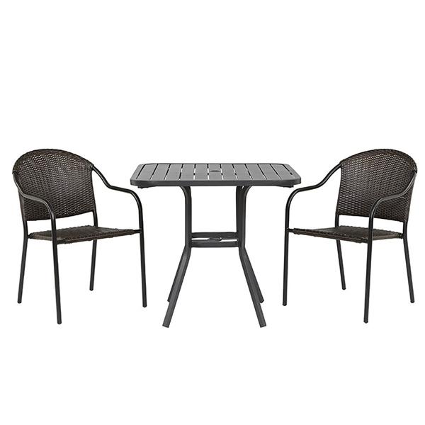 Bộ bàn ghế khung nhôm