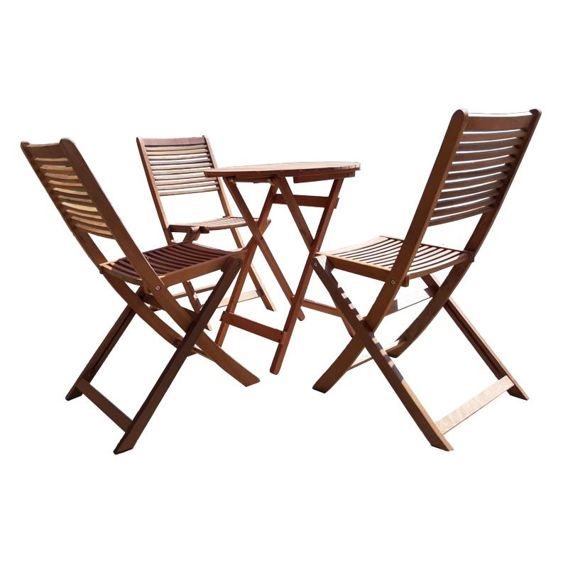 Bộ bàn ghế gỗ ngoài trời gấp gọn tiện lợi