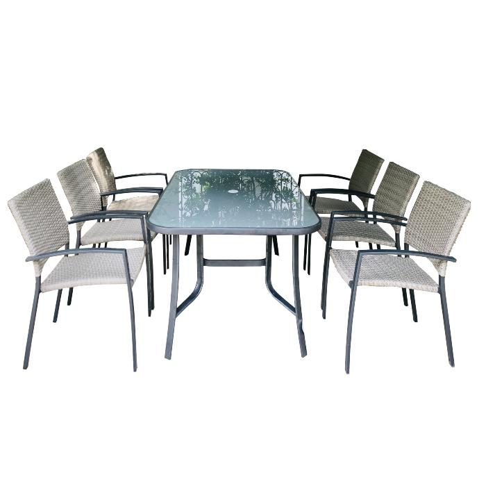 Bộ bàn ghế khung nhôm gia đình