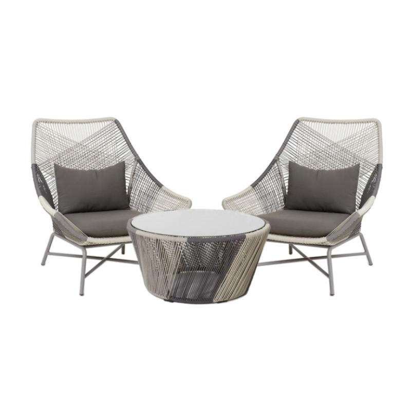 Bộ bàn nhôm đúc loại sofa giả mây