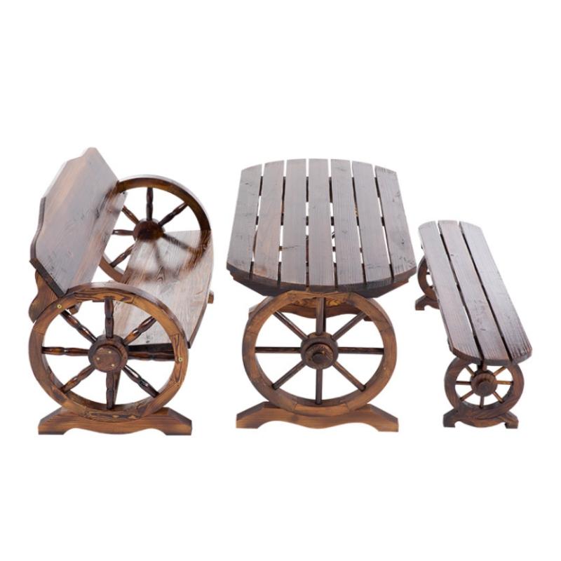 Bộ bàn ghế hình bánh xe