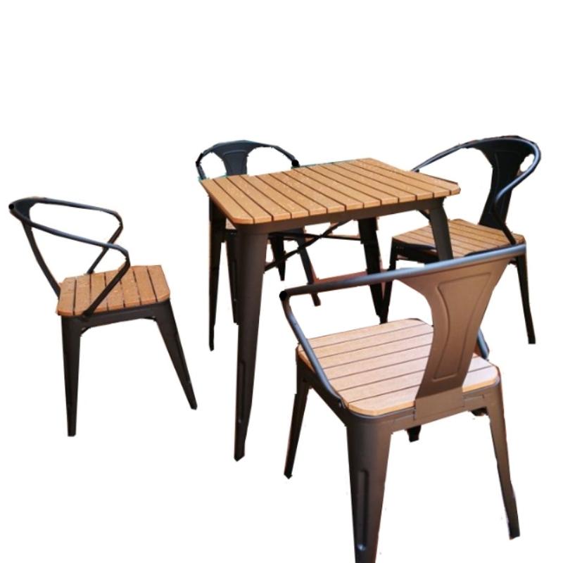 Bộ bàn ghế sắt kết hợp gỗ