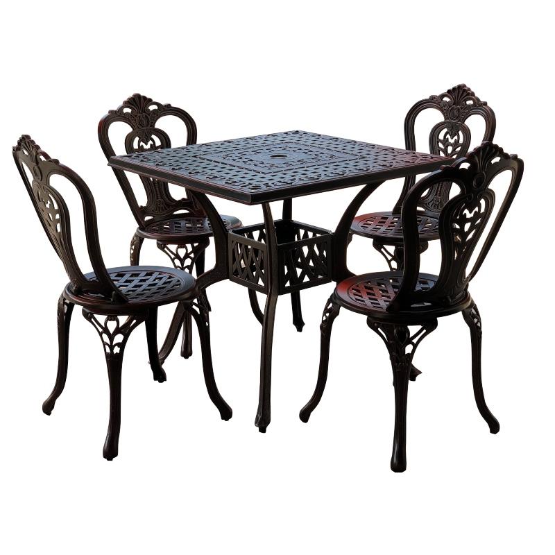 Bộ bàn ghế nhôm đúc 11
