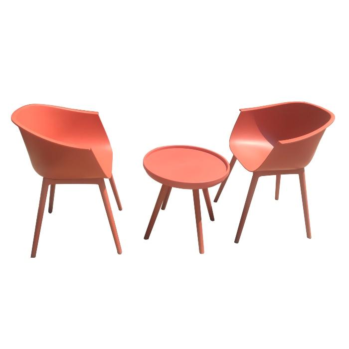 Bộ bàn ghế nhựa màu  hồng